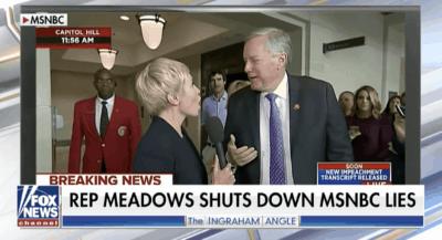Rep. Mark Meadows shuts down MSNBC reporter on air 10