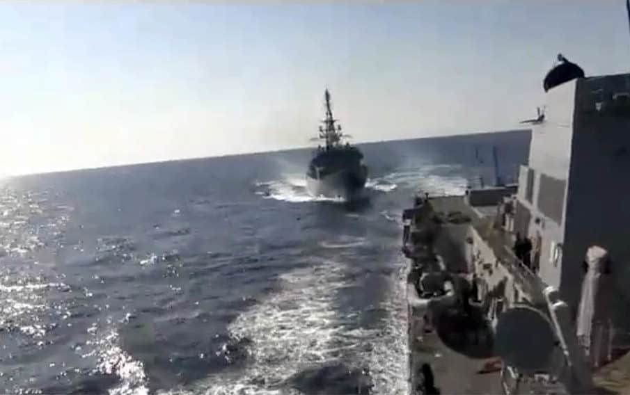 WATCH: Russian spy ship 'aggressively approached' US destroyer in North Arabian Sea 1