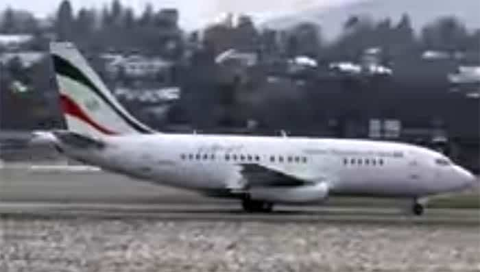 Iranian jet that picked up payment from Obama administration (via YouTube)