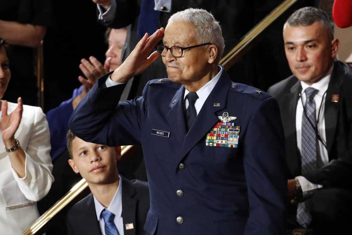 Charles McGee, one of the last surviving Tuskegee Airmen
