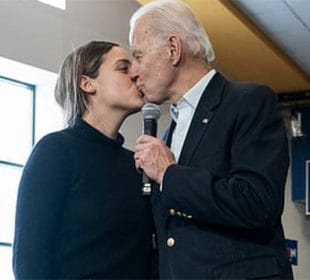 CREEPY UNCLE JOE: Biden Awkwardly Kisses Granddaughter at Campaign Stop 2