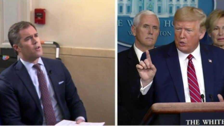 Peter Alexander and Donald Trump